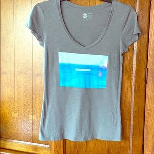 """Roxy grey t-shirt """"Find me in the sea"""""""